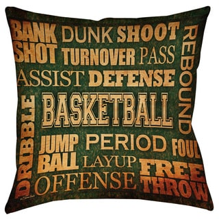 Thumbprintz Basketball Words Decorative Pillow