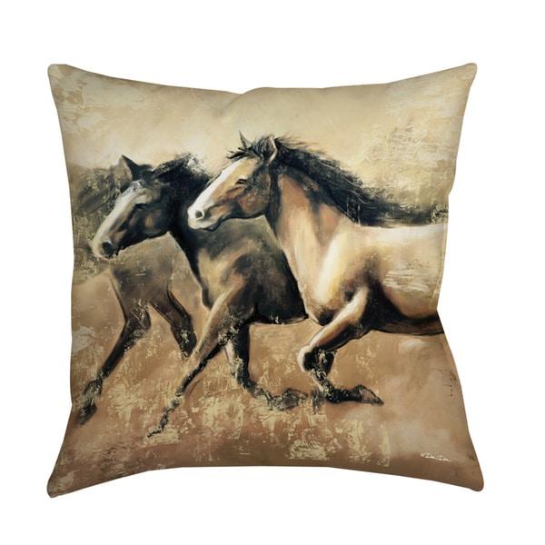 Decorative Pillows Horses : Thumbprintz Galloping Horses Decorative Pillow
