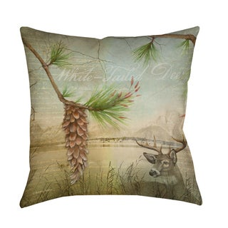 Thumbprintz Conifer Lodge Deer Decorative Pillow