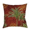 Thumbprintz Palm Trees Decorative Throw Pillow