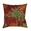 Thumbprintz Palm Tree Indoor/ Outdoor Pillow
