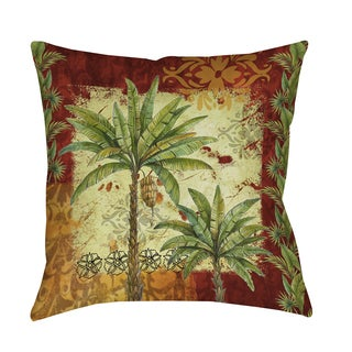 Thumbprintz Palm Patterns Decorative Throw Pillow