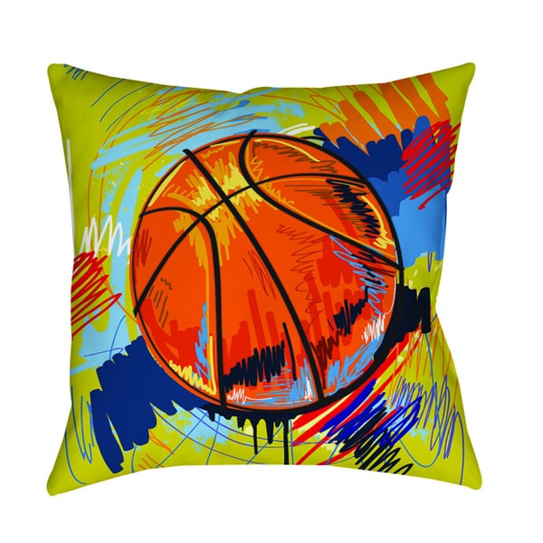 Thumbprintz Basketball Slam Dunk Indoor/ Outdoor Pillow