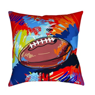 Thumbprintz Football Touchdown Decorative Pillow