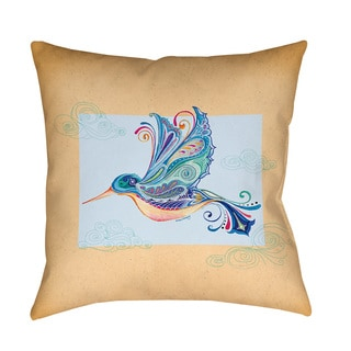 Thumbprintz Funky Hummingbird Decrotive Pillow