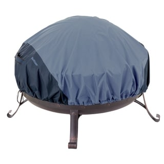 Classic Accessories Belltown Fire Pit Round Blue Cover