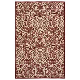 Indoor/Outdoor Luka Red Zen Rug (8'8 x 12'0)