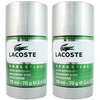 Lacoste Essential Men's 2.4-ounce Deodorant Stick (Pack of 2)