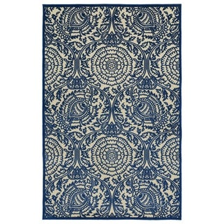 Indoor/Outdoor Luka Navy Zen Rug (8'8 x 12'0)