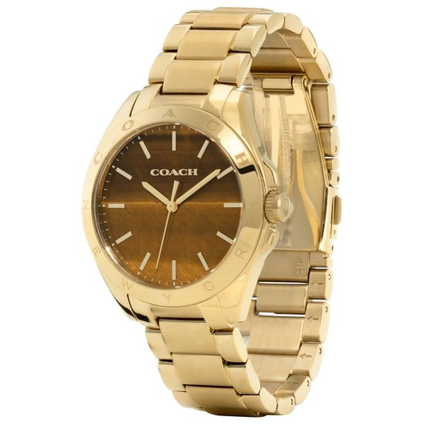 Coach Women's 14502053 Tristen Round Gold-plated Bracelet Watch