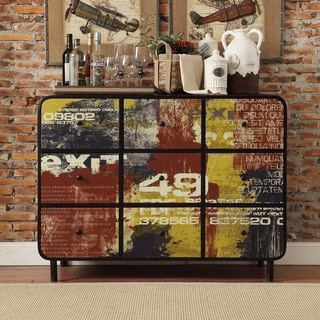 Soho Industrial 9-drawer Metal Console Sideboard Cabinet