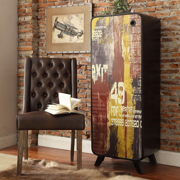 Soho Industrial 3-shelf Metal Storage Cupboard Cabinet