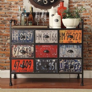 Soho Industrial 9-drawer Metal Chest Console Table Cabinet