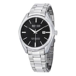 SO&CO New York Men's Madison Quartz Date Stainless Steel Watch