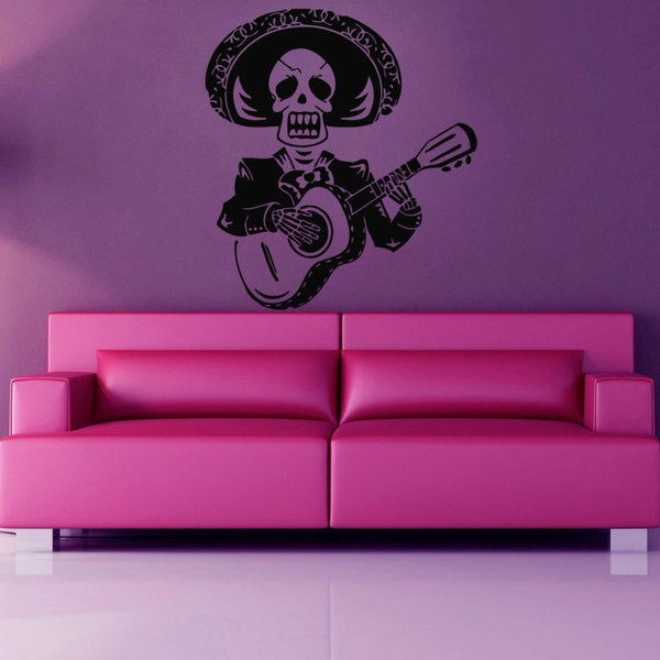 Calavera Mexican Skull Sticker Vinyl Wall Art