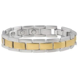 Sabona Executive Brushed Duet Magnetic Bracelet