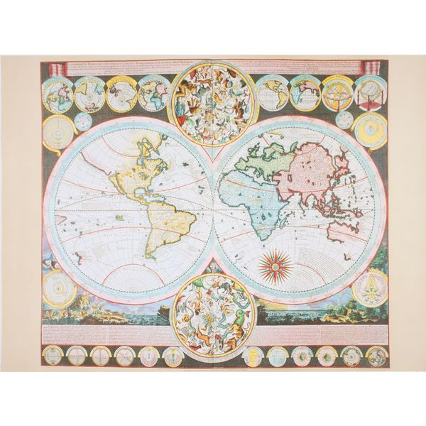 Adam Fredrich Zurners World Map