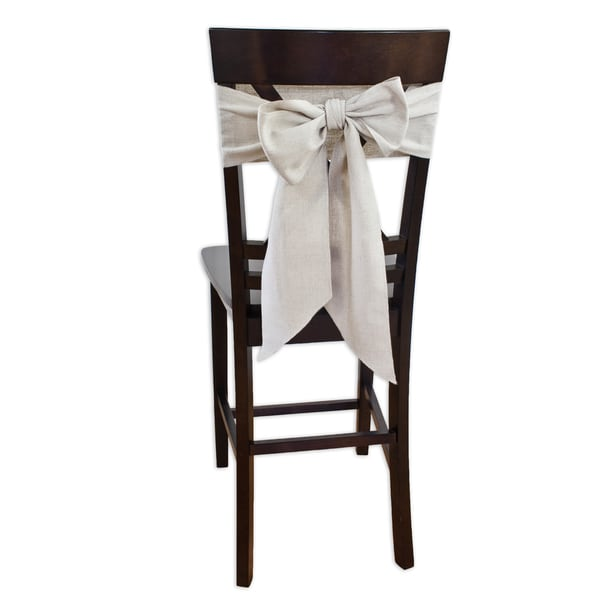 Linen Natural Chair Tie (Set of 2)