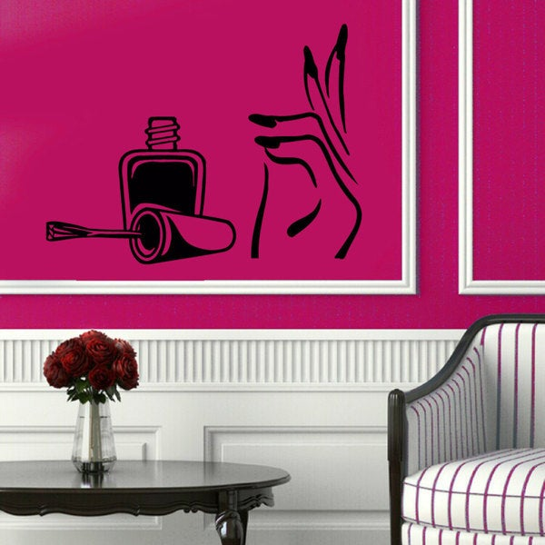 Manicure Pedicure Nail Beauty Salon Sticker Vinyl Wall Art