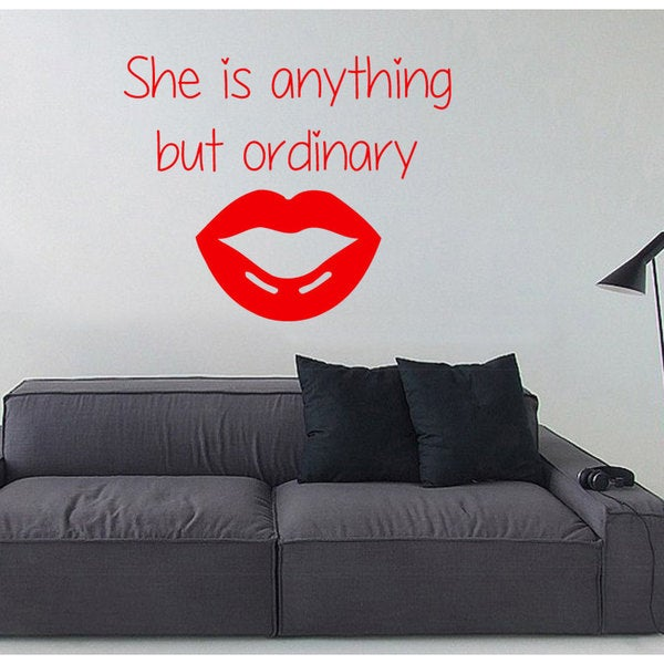 Inspirational Anything But Ordinary Sticker Vinyl Wall Art