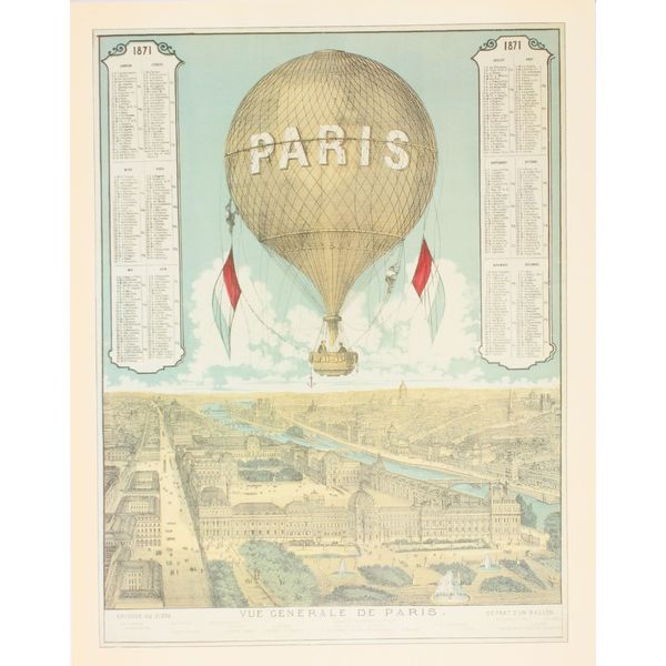 Vue Generale De Paris Balloon