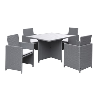 Portfolio Aldrich Grey Indoor/Outdoor 5-piece Square Dining Set