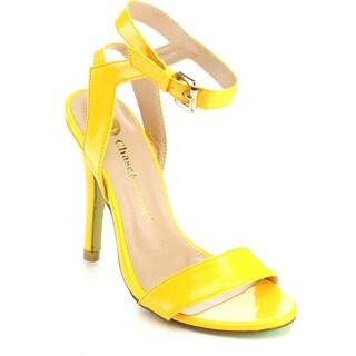 Chase & Chloe HANNAH-3 Women's Ankle Strap Metal Buckle Sandal Heels