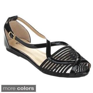 Black Swan CADEN-2 Women's Ankle Strap Gladiator Sandals