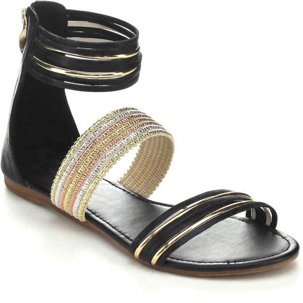 Black Swan BAINA-1 Women's Ankle Strap Gladiator Sandals
