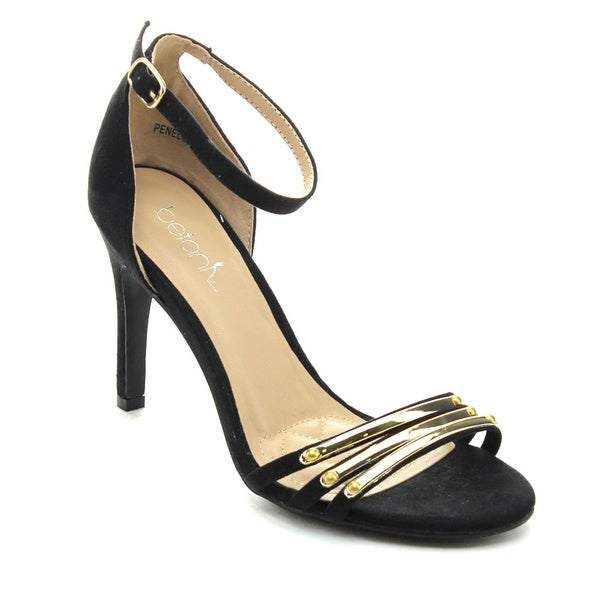 Betani PENELOPE-3 Women Metallic Ankle Strap Stiletto Heels