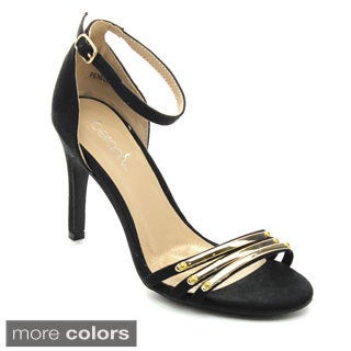 Betani PENELOPE-3 Women Metallic Ankle Strap Stiletto Heels