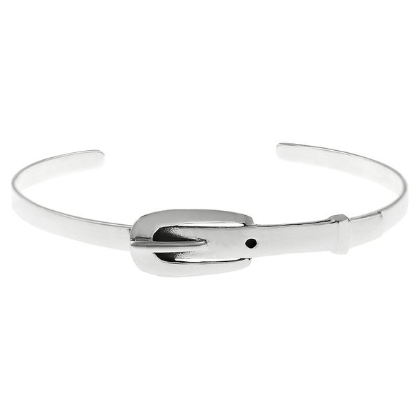 Journee Collection Sterling Silver Belt Buckle Cuff