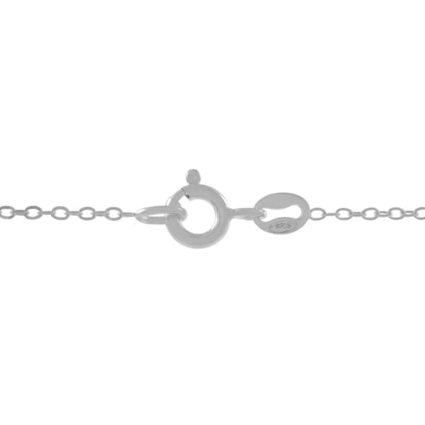 """Journee Collection Sterling Silver 14"""" Cable Chain Necklace"""