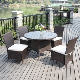 Portfolio Aldrich Brown Indoor/Outdoor 5-piece Round Dining Set