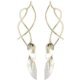 Journee Collection Goldfill Sterling Silver Calla Lily Earrings
