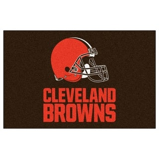 Fanmats Machine-made Cleveland Browns Black Nylon Ulti-Mat (5' x 8')