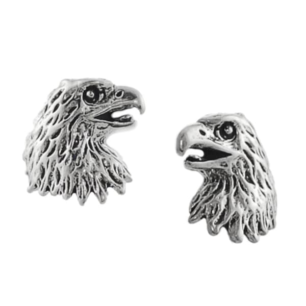 Journee Collection Sterling Silver Eagle Head Stud Earrings