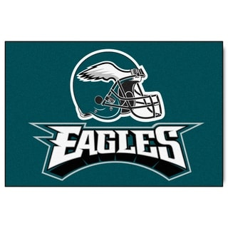 Fanmats Machine-made Philadelphia Eagles Teal Nylon Ulti-Mat (5' x 8')