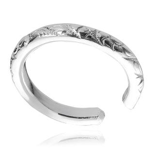 Journee Collection Sterling Silver Ear Cuff (Hand-crafted)