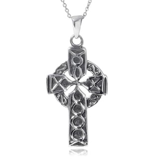 Journee Collection Sterling Silver Celtic Cross Necklace