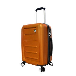 Mia Toro Moderno 20-inch Expandable Hardside Carry-on Spinner Upright Suitcase