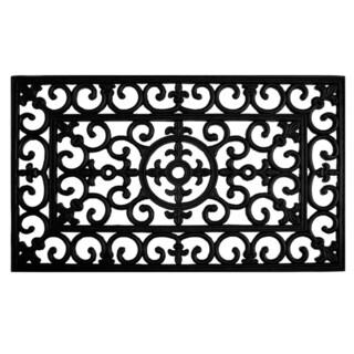 Fleur De Lis Rubber Doormat (2' x 3')