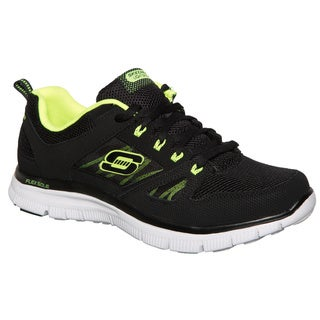Skechers USA Lightweight Leather and Mesh Upper with Skechers Memory Foam Footbed Sneakers