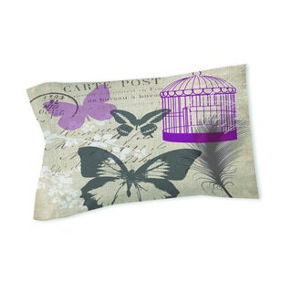 Thumbprintz Butterfly Collage Burlap Sham