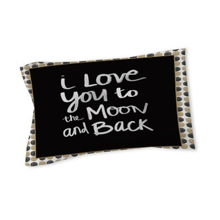 Thumbprintz Moon Gold and Black Sham