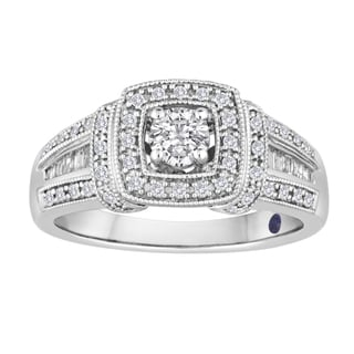 5/8 CTtw Platinaire Bridal Diamond Ring (I/J-I2)