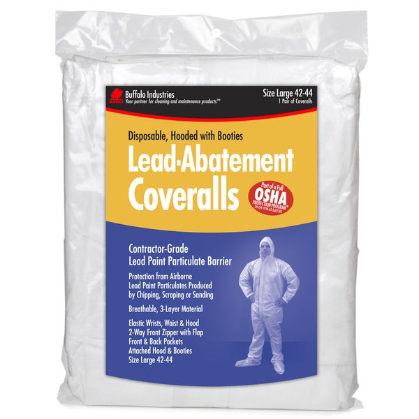 Large Lead Abatement Coveralls