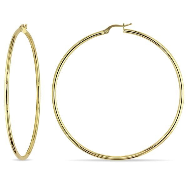 Miadora 10k Yellow Gold Italian 65mm Hoop Earrings