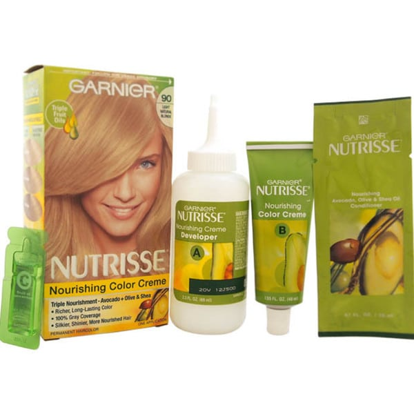 Garnier Nutrisse Nourishing Color Creme # 90 Light Natural Blonde Hair Color