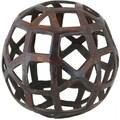 Renwil Expedition Cobalt Brass Decorative Sphere